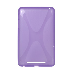 X Shape TPU Gel Case for ASUS Google Nexus 7 - Purple