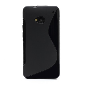 S-Curve TPU Gel Case Cover for HTC One M7 801e - Black