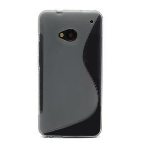 S-Curve TPU Gel Case Cover for HTC One M7 801e - Grey