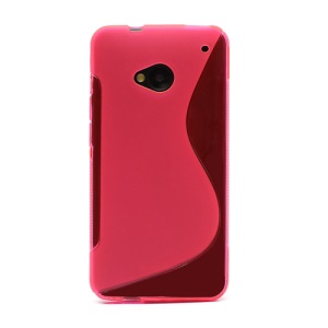 S-Curve TPU Gel Case Cover for HTC One M7 801e - Rose