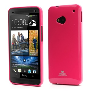 Mercury Pearl Jelly TPU Case Cover for HTC One M7 801e - Rose