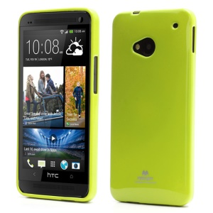 Mercury Pearl Jelly TPU Case Cover for HTC One M7 801e - Green