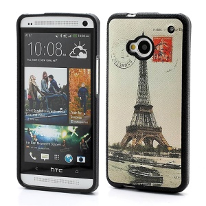 Retro Eiffel Tower Gel TPU Case Cover for HTC One M7 801e