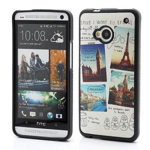 Famous Eiffel Tower &amp;amp; Big Ben TPU Gel Case for HTC One M7 801e