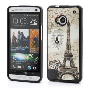 Eiffel Tower World Map HTC One M7 801e TPU Case Cover
