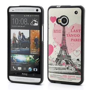 Sweet Heart Eiffel Tower TPU Case Shell for HTC One M7 801e