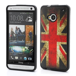 Vintage Union Jack Flag TPU Cover Case for HTC One M7 801e