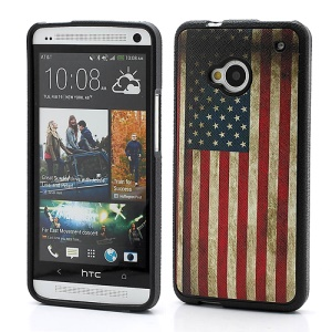 Retro USA American Flag TPU Skin Case for HTC One M7 801e