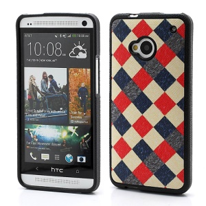 Colrized Checks TPU Skin Gel Cover for HTC One M7 801e