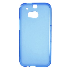 Double-sided Matte TPU Gel Case for HTC One 2 M8 - Blue;Blue