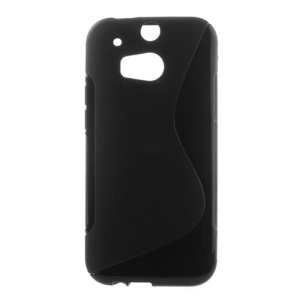 Black S Shape TPU Case for HTC One 2 M8