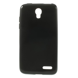 Black Glossy Outer Matte Inner TPU Case for Alcatel One Touch Pop S3 OT-5050A OT-5050Y
