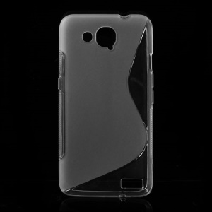 S Shape TPU Gel Case for Alcatel One Touch Idol S OT-6034R 6034Y 6034M - Transparent