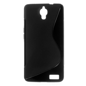S-curve TPU Shell for Alcatel One Touch Idol X 6040 6040A 6040D 6040E / TCL S950 - Black