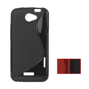 S Shape TPU Gel Case for HTC One X S720e / One XL / One X Plus