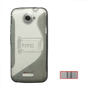 S Shape TPU with Stand  Hybrid Case for HTC One X S720e / One XL / One X Plus