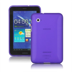 Stylish Blade TPU Case for Samsung Galaxy Tab 2 7.0 P3100 P3110 - Purple