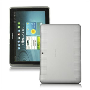 Anti-slip Frosted TPU Case for Samsung Galaxy Tab 2 10.1 P5100 P5110 - Transparent
