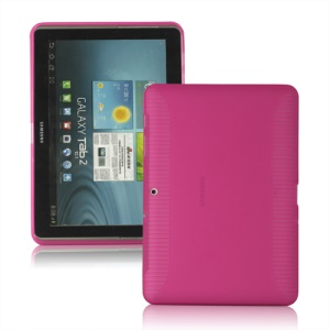 Anti-slip Frosted TPU Gel Case for Samsung Galaxy Tab 2 10.1 P5100 P5110 - Rose