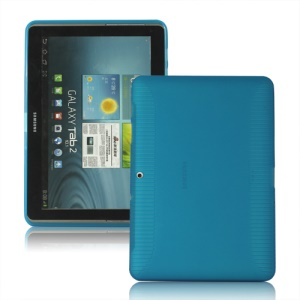 Anti-slip Frosted TPU Case for Samsung Galaxy Tab 2 10.1 P5100 P5110 - Light Blue