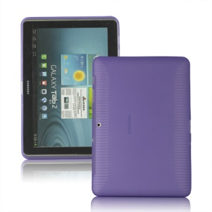 Anti-slip Frosted TPU Case for Samsung Galaxy Tab 2 10.1 P5100 P5110 - Purple