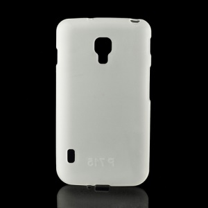 Matte Gel TPU Case Cover for LG Optimus L7 II Dual P715 Duet+ - White