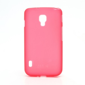 Matte Gel TPU Case Cover for LG Optimus L7 II Dual P715 Duet+ - Red