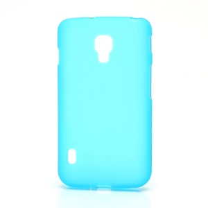 Matte Gel TPU Case Cover for LG Optimus L7 II Dual P715 Duet+ - Baby Blue