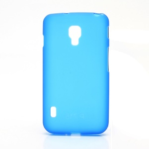 Matte Gel TPU Case Cover for LG Optimus L7 II Dual P715 Duet+ - Dark Blue