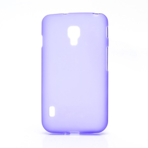 Matte Gel TPU Case Cover for LG Optimus L7 II Dual P715 Duet+ - Purple