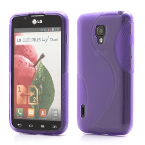 S Shape Gel Skin TPU Case Accessories for LG Optimus Duet+ L7 II Dual P715