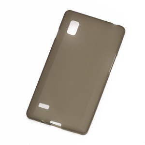Matte Jelly TPU Gel Case Cover for LG Optimus L9 P760 P765 P768 - Grey