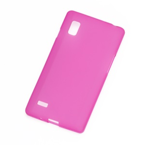 Matte Jelly TPU Case Cover for LG Optimus L9 P760 P765 P768 - Rose