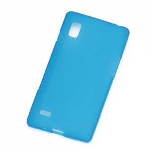 Matte Jelly Gel TPU Case Cover for LG Optimus L9 P760 P765 P768 - Baby Blue