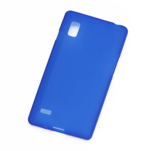 Frosted TPU Jelly Case Cover for LG Optimus L9 P760 P765 P768 - Dark Blue
