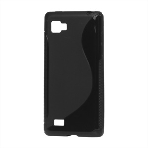 S Shape TPU Gel Case for LG Optimus 4X HD P880