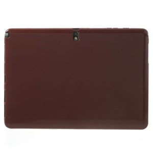 Brown Glossy Outer Matte Inner TPU Gel Skin Cover for Samsung Galaxy Note Pro 12.2 P901 / Tab Pro 12.2 T905