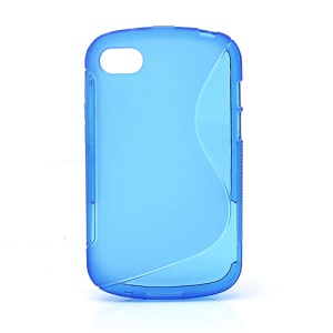 S-Shape Flexible TPU Cover Phone Case for BlackBerry Q10