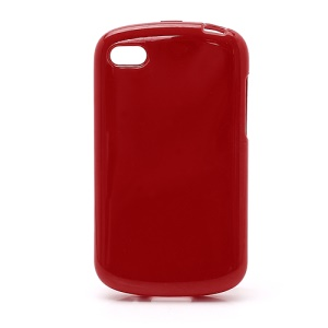 Solid Glossy TPU Case Shell for BlackBerry Q10 - Red
