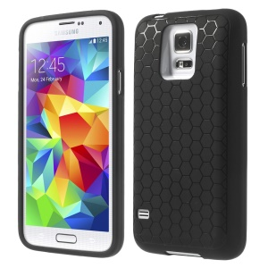 Black Football Veins Extended Battery TPU Gel Case for Samsung Galaxy S5 G900
