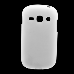 Frosted Flexible TPU Jelly Case Cover for Samsung Galaxy Fame S6810 - White