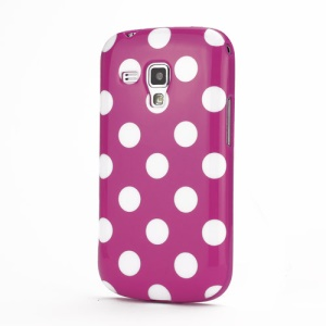 Pokla Dots TPU Case Cover for Samsung Galaxy S Duos S7562 - White / Rose