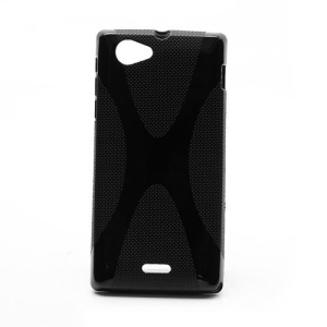 X-Line Soft TPU Gel Case Accessories for Sony Xperia J ST26i ST26a - Black