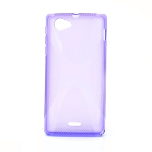 X-Line Soft TPU Gel Case Accessories for Sony Xperia J ST26i ST26a - Purple