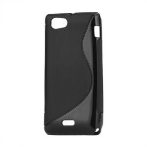 S-Curve TPU Gel Skin Case for Sony Xperia J ST26i ST26a;Red
