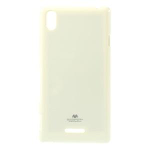 Mercury Jelly Case Glitter Powder TPU Cover for Sony Xperia T3 D5102 D5103 D5106 - White