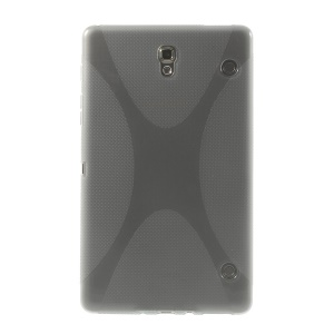 X Shape for Samsung Galaxy Tab S 8.4 T700 T705 Soft TPU Shell Case - Grey