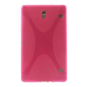 For Samsung Galaxy Tab S 8.4 T700 T705 X Shape Soft TPU Gel Cover - Rose