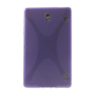For Samsung Galaxy Tab S 8.4 T700 T705 X Shape Soft TPU Gel Skin - Purple