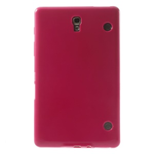 Outer Glossy Inner Matte TPU Case for Samsung Galaxy Tab S 8.4 T700 T705 - Rose